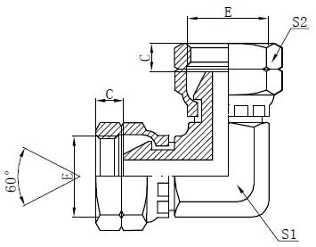 Kreslení kolenního adaptéru pro samice