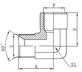 Koleno Adaptér pro kolena BSP Kreslení