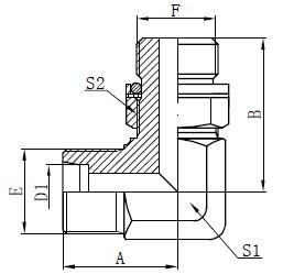 Koleno Hydraulické adaptéry Kreslení