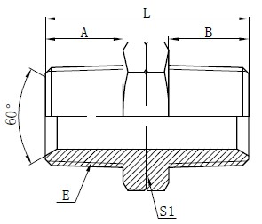 Hydraulické NPT Male adaptéry Kreslení