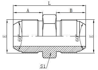 Metrické samonosné adaptéry JIS Kreslení