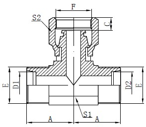 Metrické T-kus hadice