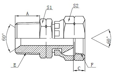 NPSM Adapter Fittings Kreslení