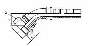 Sestava hydraulické hadice R1AT